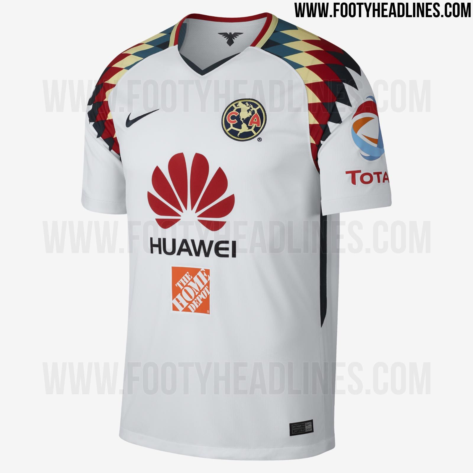 6e3d8ab8ef2 The new Nike Club America 2017-2018 away jersey boasts an outstanding  design.