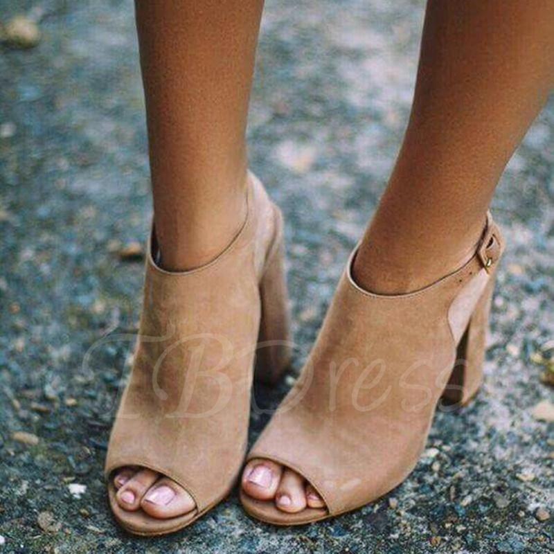 Trendy Open Toe Heel Covering Stiletto Heel Dress Sandals