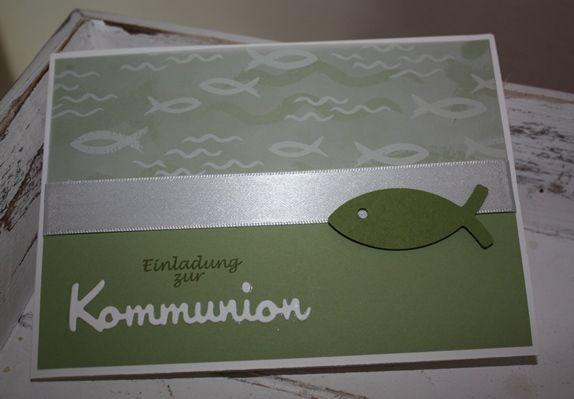 einladung zur kommunion | kommunion | pinterest, Einladung