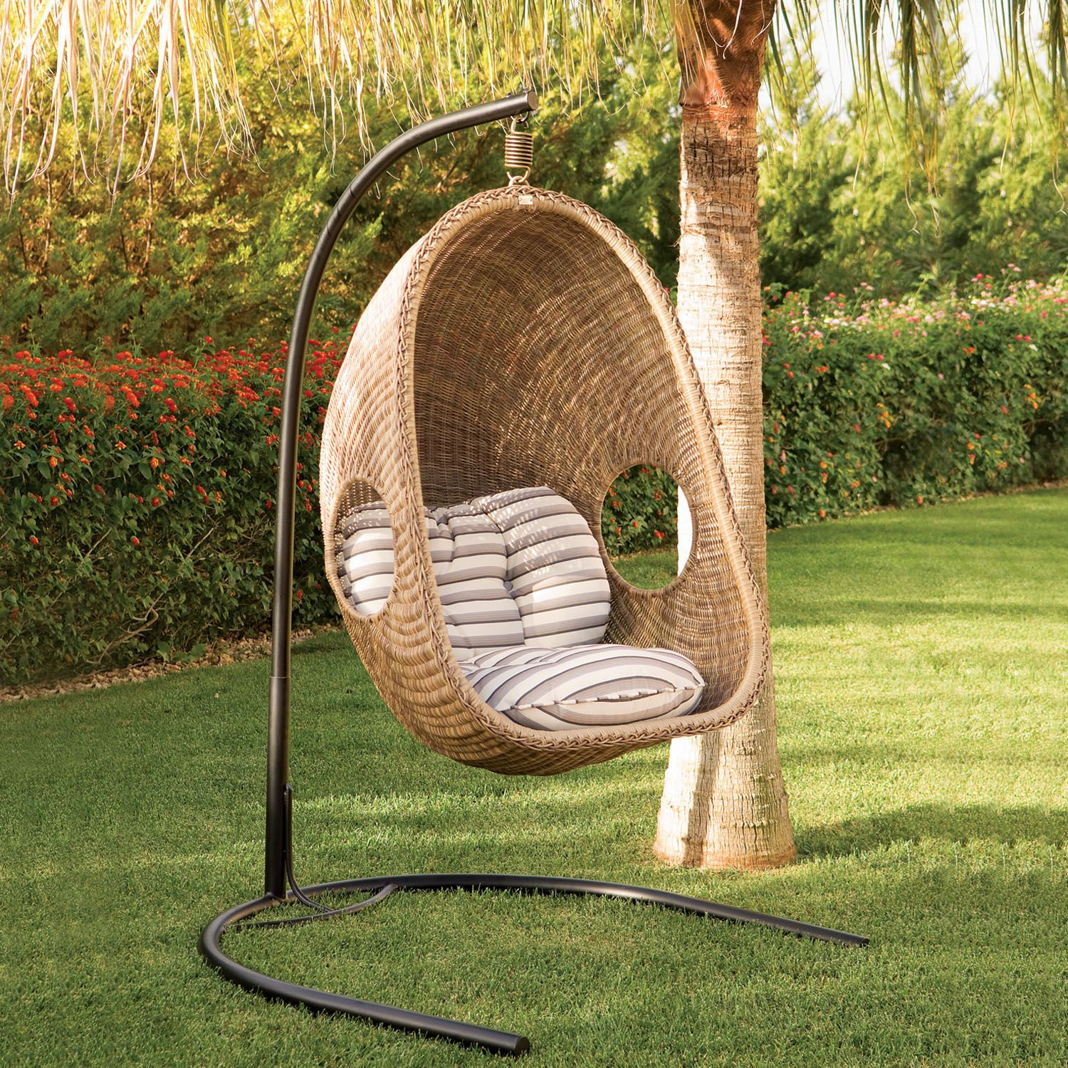 Perfect Sublime Coziness With Hanging Wicker Chairs   Rattan And Wicker Furniture    Minh Thy