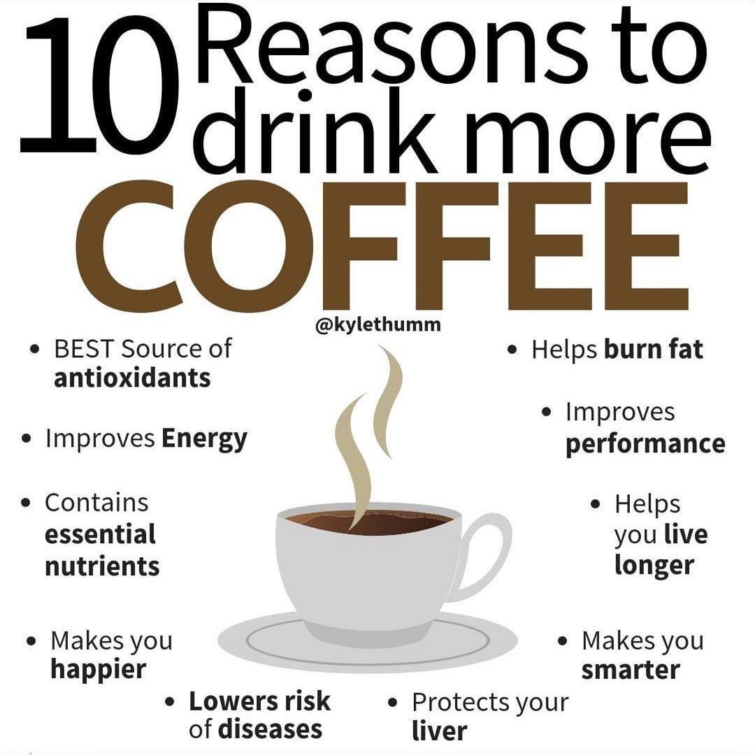 10 Reasons To Drink More Coffee Improve Energy Antioxidants Nutrition Facts