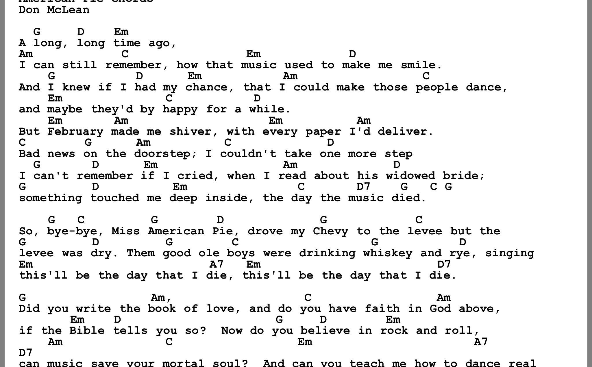 Pin by Chuck Farnsworth on Music lyrics   Pop songs, Ukulele ...