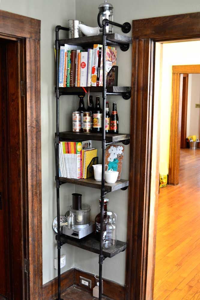 Rustic Industrial Diy Bookshelf The Modern Gal Home Sweet Home