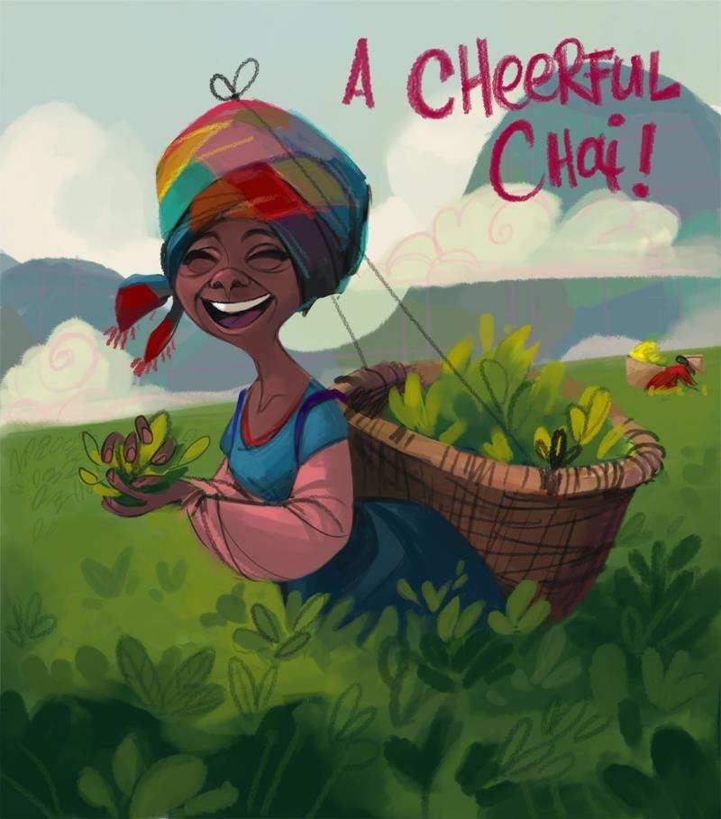 """Picking Tea #cheerfullady / Raccolta del Tè #signorasorridente - """"A Cheerful Chai"""", Art by Daemion Elias George-Cox"""
