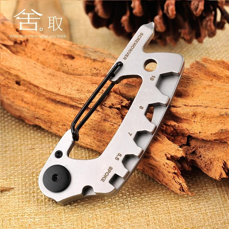 Silver Double-head screwdriver tool multifunctional Metal key chain Mini Tool