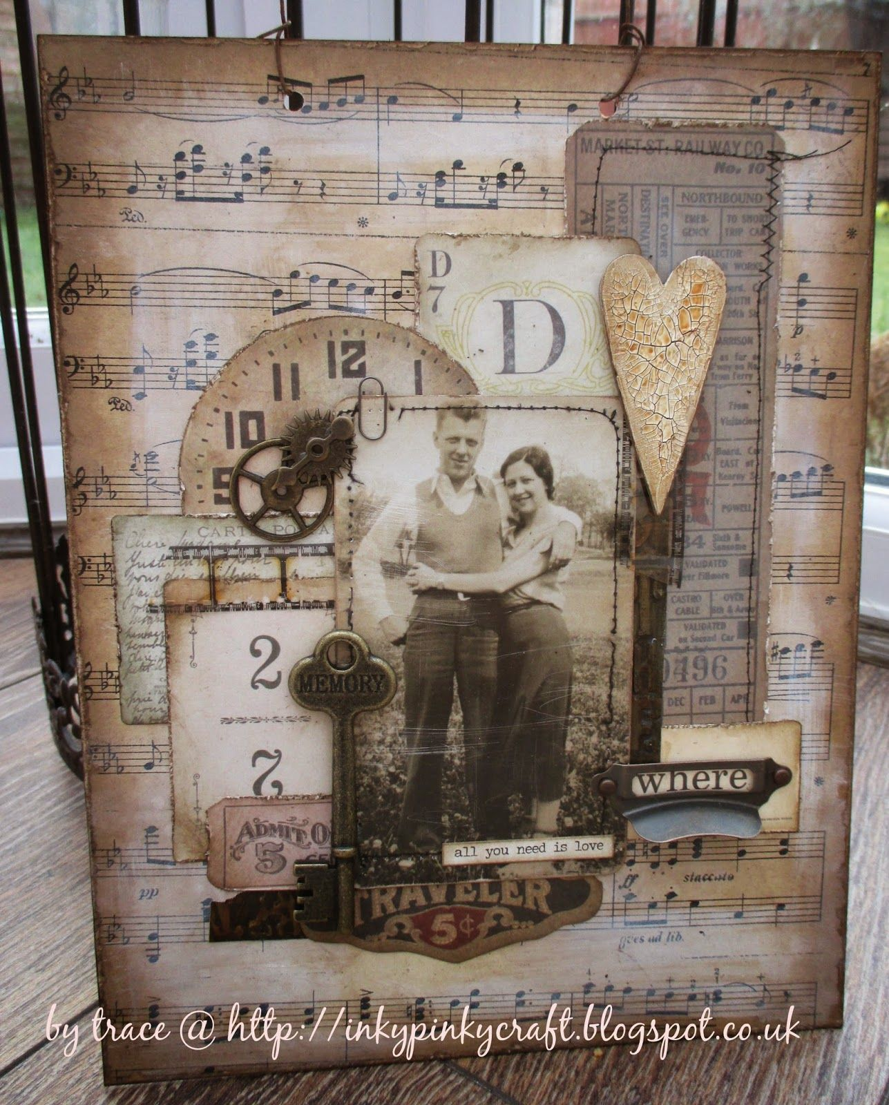 All you need is love for A Vintage Journey inkypinkycraft