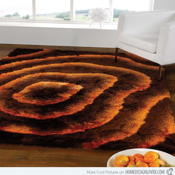 20 Fluffy And Stylish Rugs Home Design Lover Orange Rugsbrown