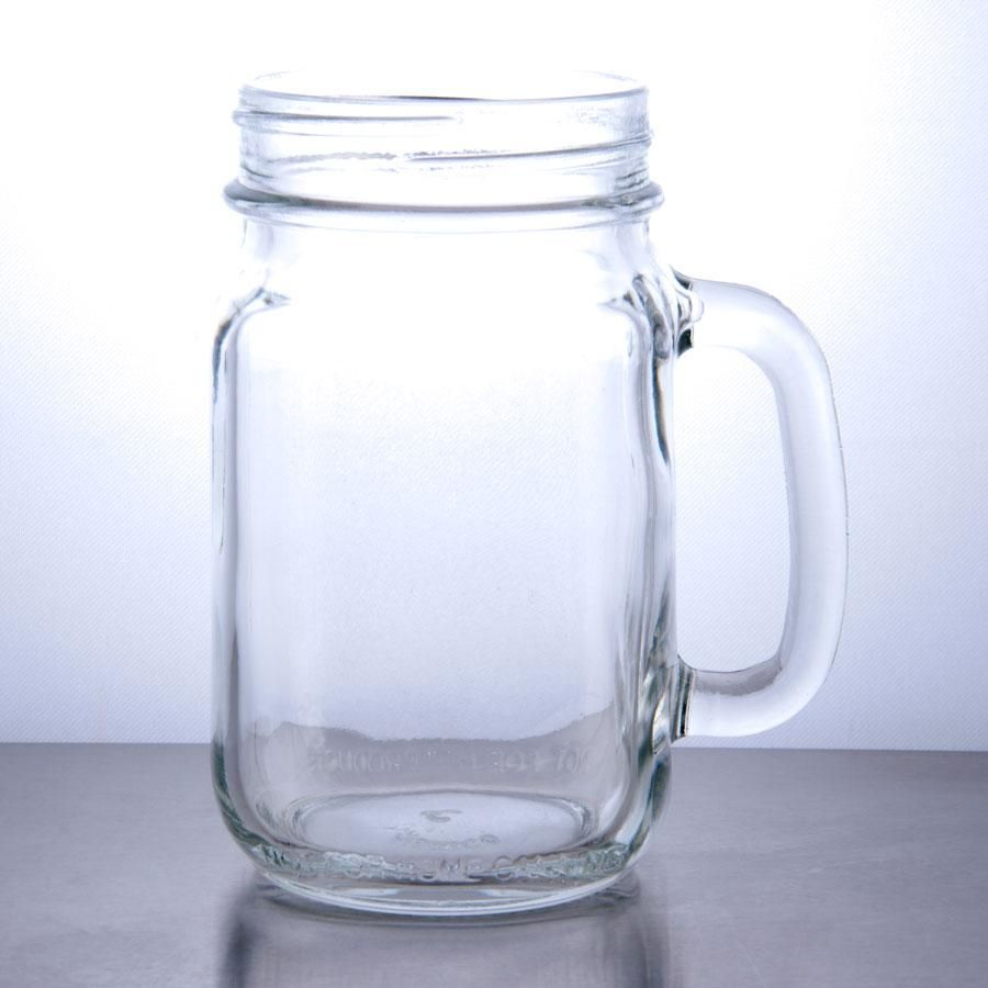 Libbey 97084 16 Oz Drinking Mason Jar With Handle 12 Case Mason Jars With Handles Mason Jar Mugs Mason Jars