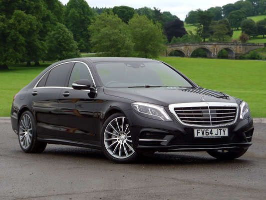 used 2015 64 reg obsidian black metallic mercedes benz s class s400l hybrid amg line 4dr auto. Black Bedroom Furniture Sets. Home Design Ideas