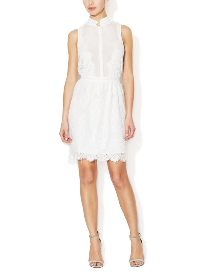 White Lies Silk and Lace Dress from Aijek on Gilt