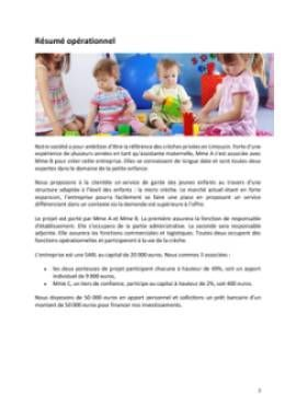 Business Plan Micro Creche Telecharger Les Modeles Word Et Excel