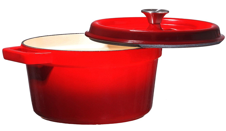 Bruntmor enameled cast iron dutch oven casserole dish 65