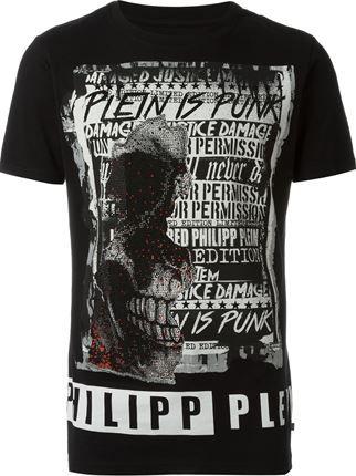 Philipp Plein Camiseta com aplicações