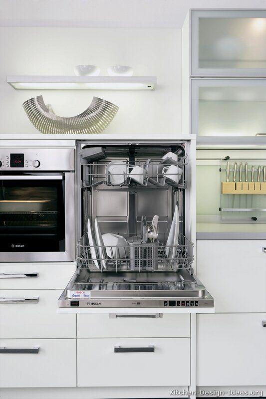 Elevated Dishwasher Next To Deep Kitchen Sink.
