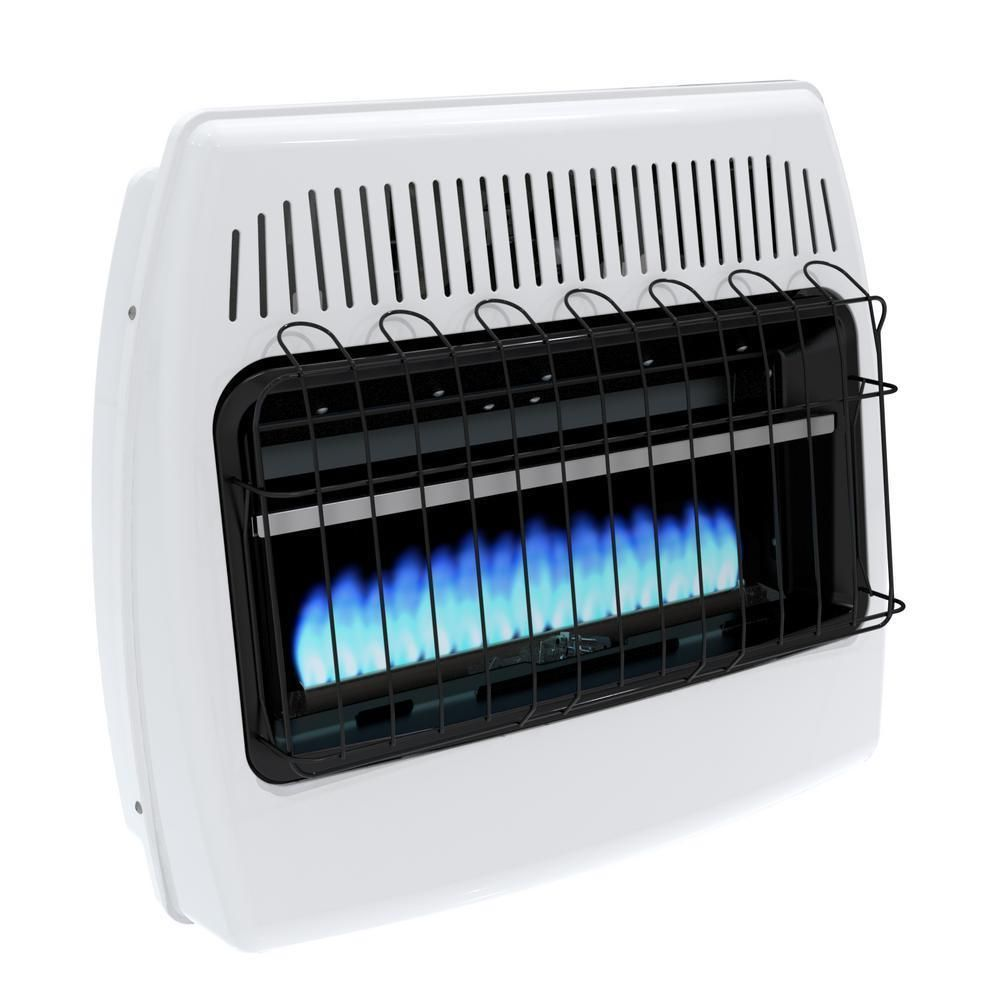 btu natural gas blue flame wall heater hunting cabin space