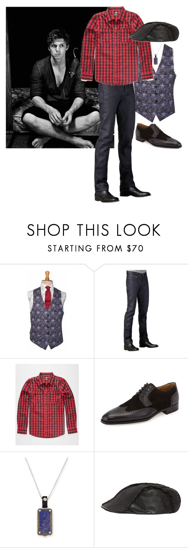 """""""Alec Romanelli"""" by ashleyr0sexo ❤ liked on Polyvore featuring Naked & Famous, NIKE, Magnanni, Stephen Webster, Move, men's fashion and menswear"""