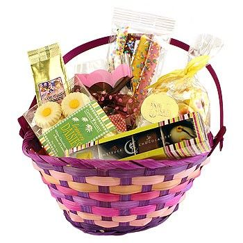 Made in Oregon's colorful Easter Treats Deluxe Gift Basket ...