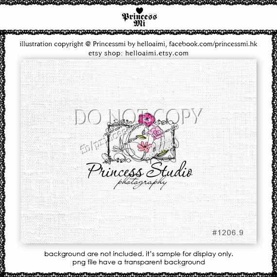 Custom Premade Logo Design  sketch hand draw camera by helloaimi, $40.00