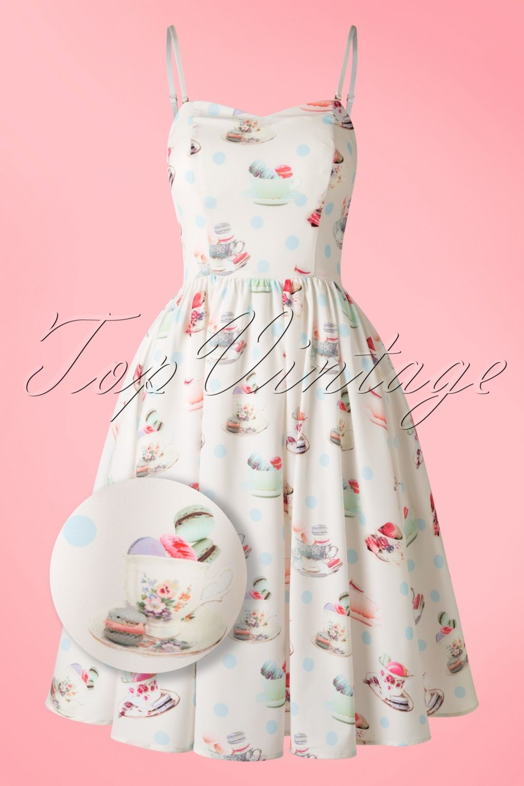 50s Macaroon Tea Dress in Ivory