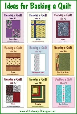 Ideas for Backing a Quilt