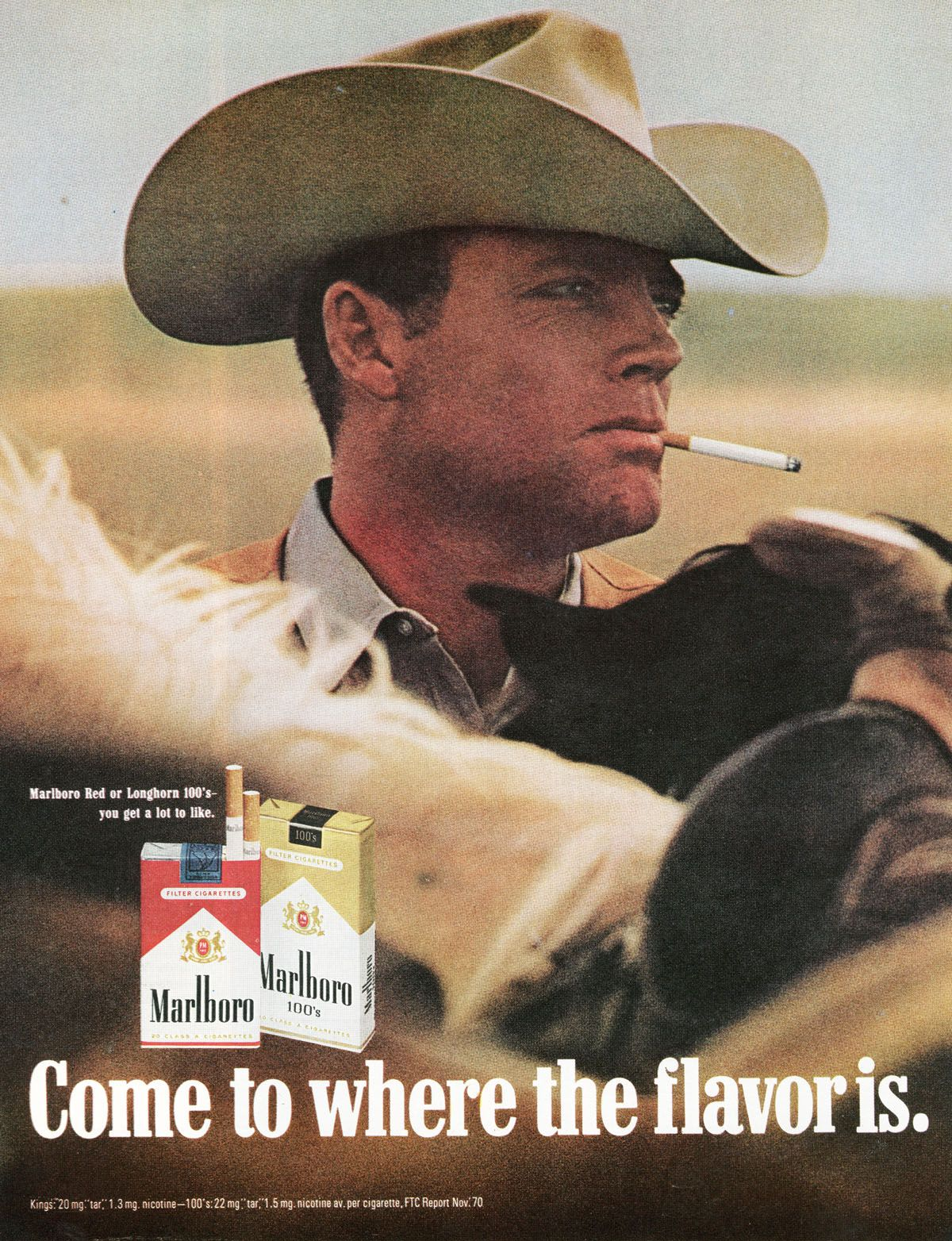 1970 Marlboro - Come to where the flavor is | Digital Poster Collection