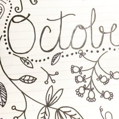 Autumn leaf doodling in my bullet journal. It's also on my YouTube channel…