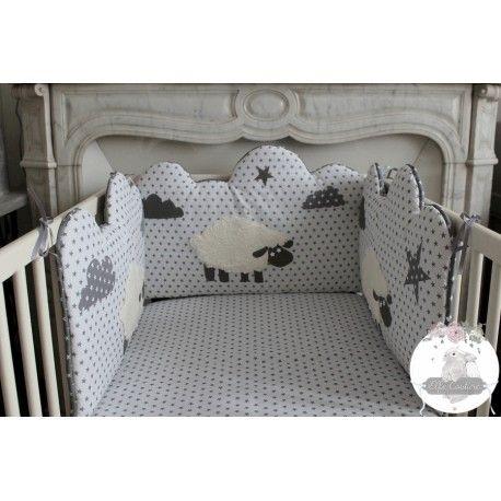 Tour de lit Mazarine moutons   Craft ideas   Tour de lit, Tour de ...