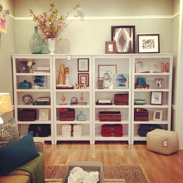 Perfectly Styled Bookshelves By Threshold Avail At Target Maybe In Brown Instead Mine