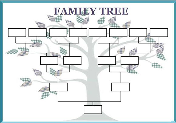 Large Blank Family Tree Template Printable Generation | Home