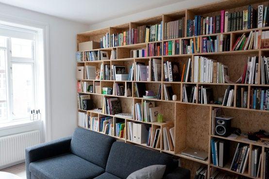 OSB-Platten-Innenausbau-bücherregal | Wohnideen- Wohnzimmer ...