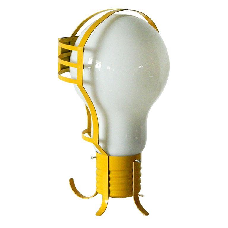 70's Lightbulb Pendant Table Lamp