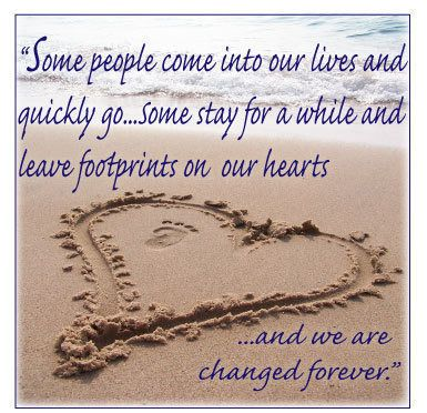 Footprints On My Heart Love Friendship Quotes Life Quotes Quotes