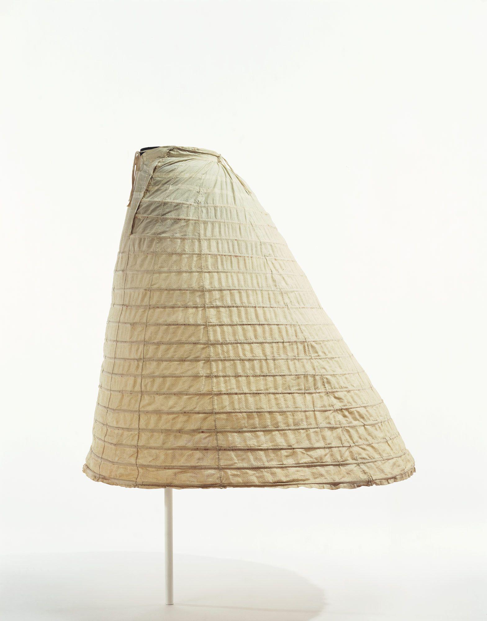 Crinoline Petticoat, 1860\'s. Cage crinoline, made by connecting a ...