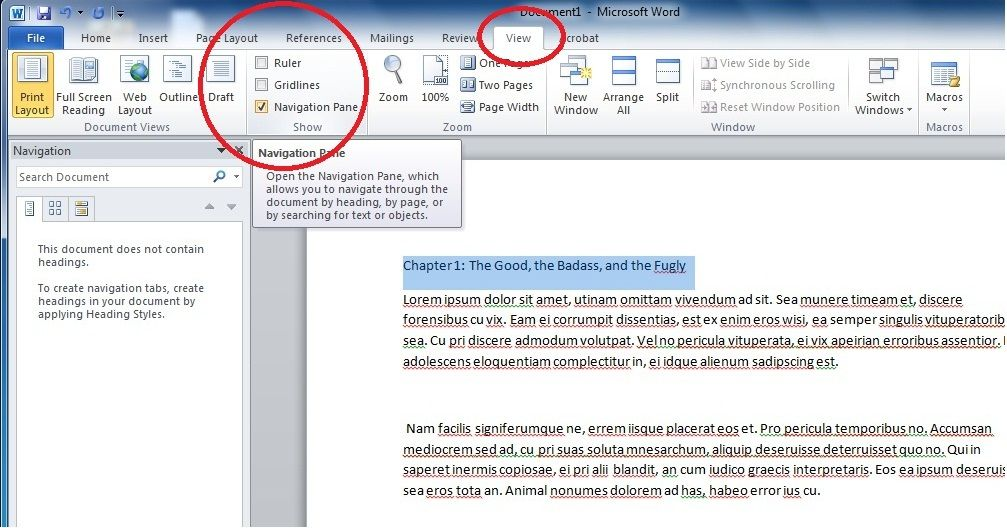 how to write a book using ms word