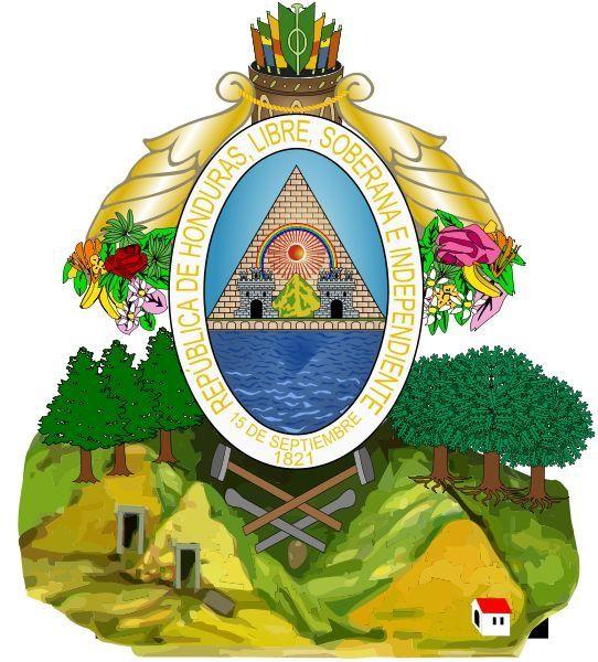 1821 Honduras Capital Tegucigalpa Ext 112492 Km Honduras Tegucigalpa L1900 Coat Of Arms Honduras Tegucigalpa