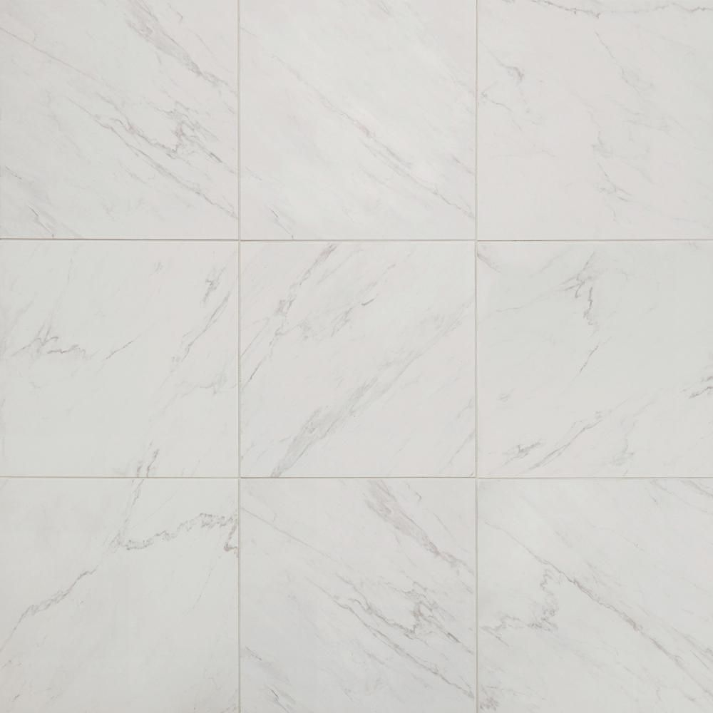 Lifeproof Carrara 18 In X 18 In Glazed Porcelain Floor And Wall Tile 17 6 Sq Ft Case Lp501818hd1p6 The Home Depot In 2020 Porcelain Flooring Flooring Floor And Wall Tile