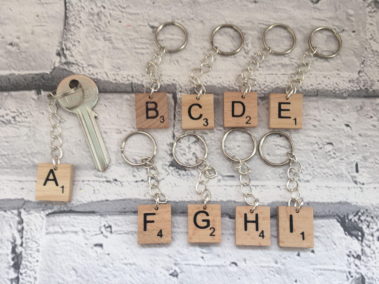 alphabet keyrings scrabble tile keyrings bag charms initial
