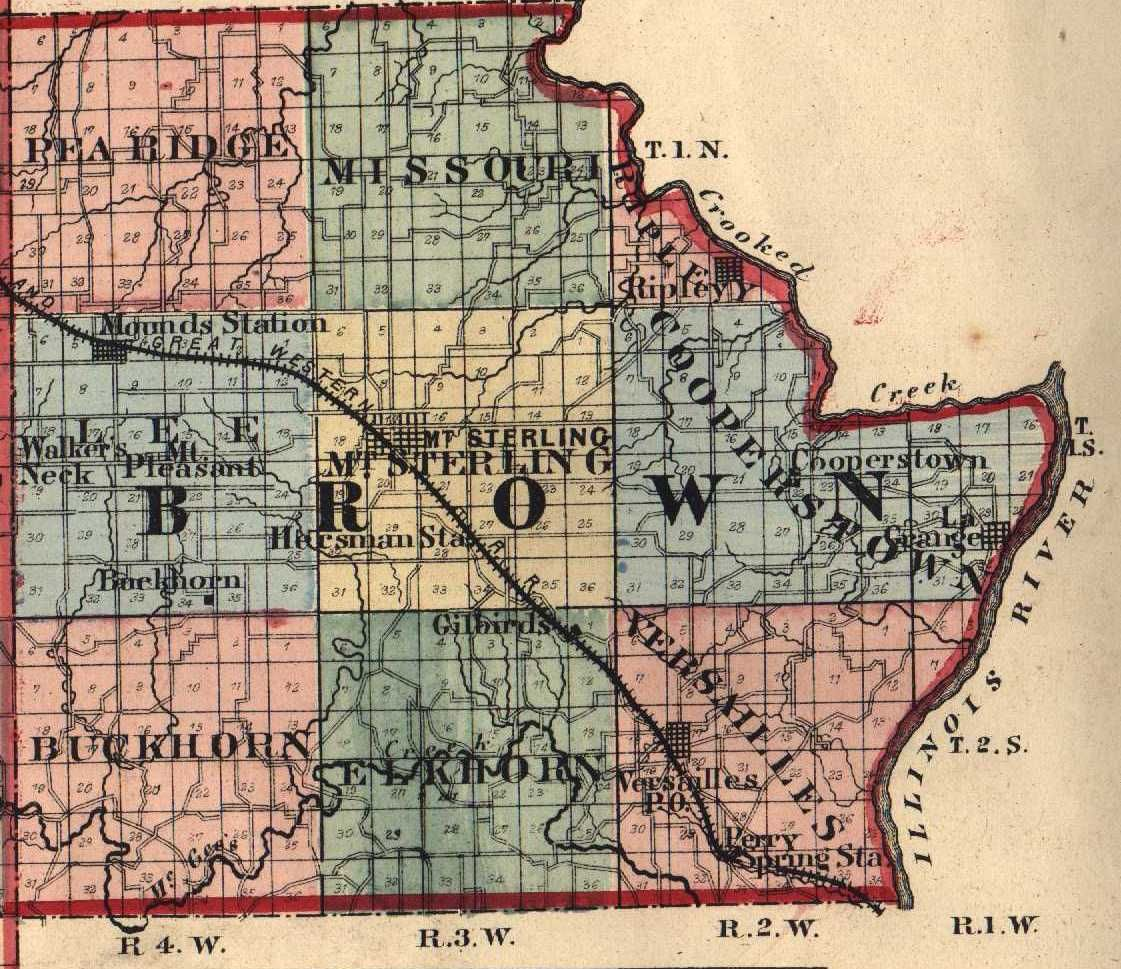 Map of Brown Co IL Map of