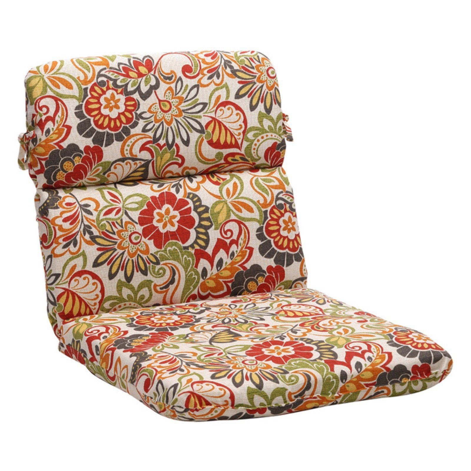 Pillow Perfect Outdoor Floral Chair Cushion 40 5 X 21 X 3 In