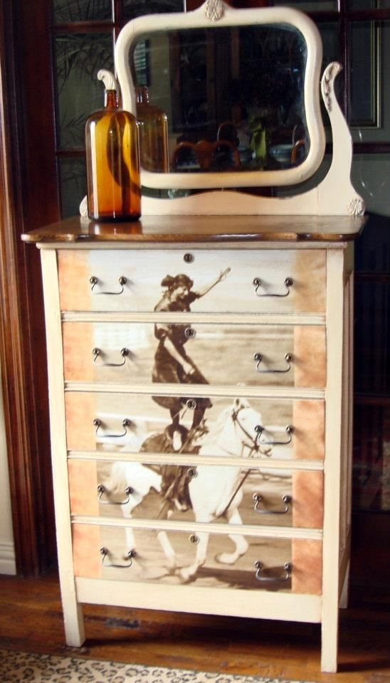Another Cool Western Style Makeover Dresser.