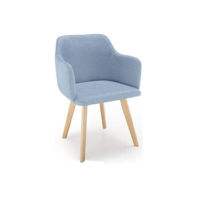 Chaise Scandinave Tissu Bleu Crush En 2020 Chaises Scandinaves Tissu Chaise Style Scandinave Chaise Scandinave