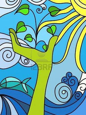 Abstract Nature School Wall Art Mural Art Mural Painting