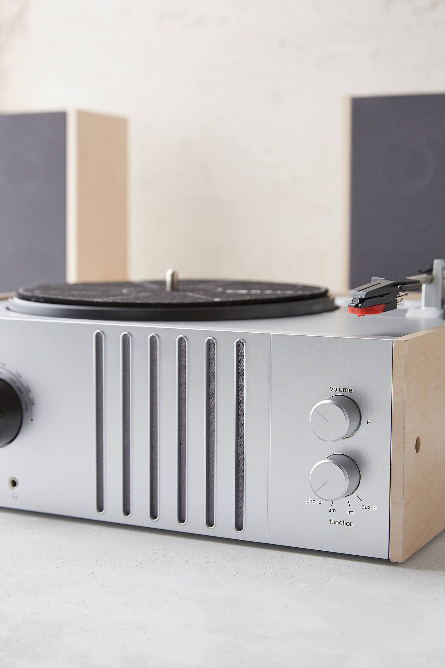 Slide View 3 Crosley Vinyl Record Player Detachable Speakers Set