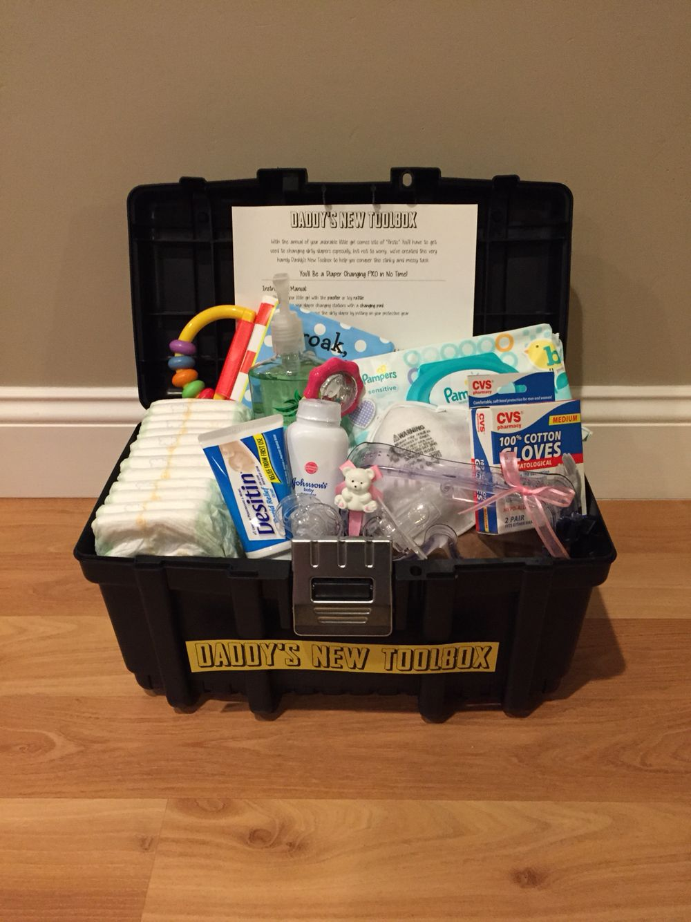 Daddy S Diaper Changing Toolbox Baby Shower Baby Boy