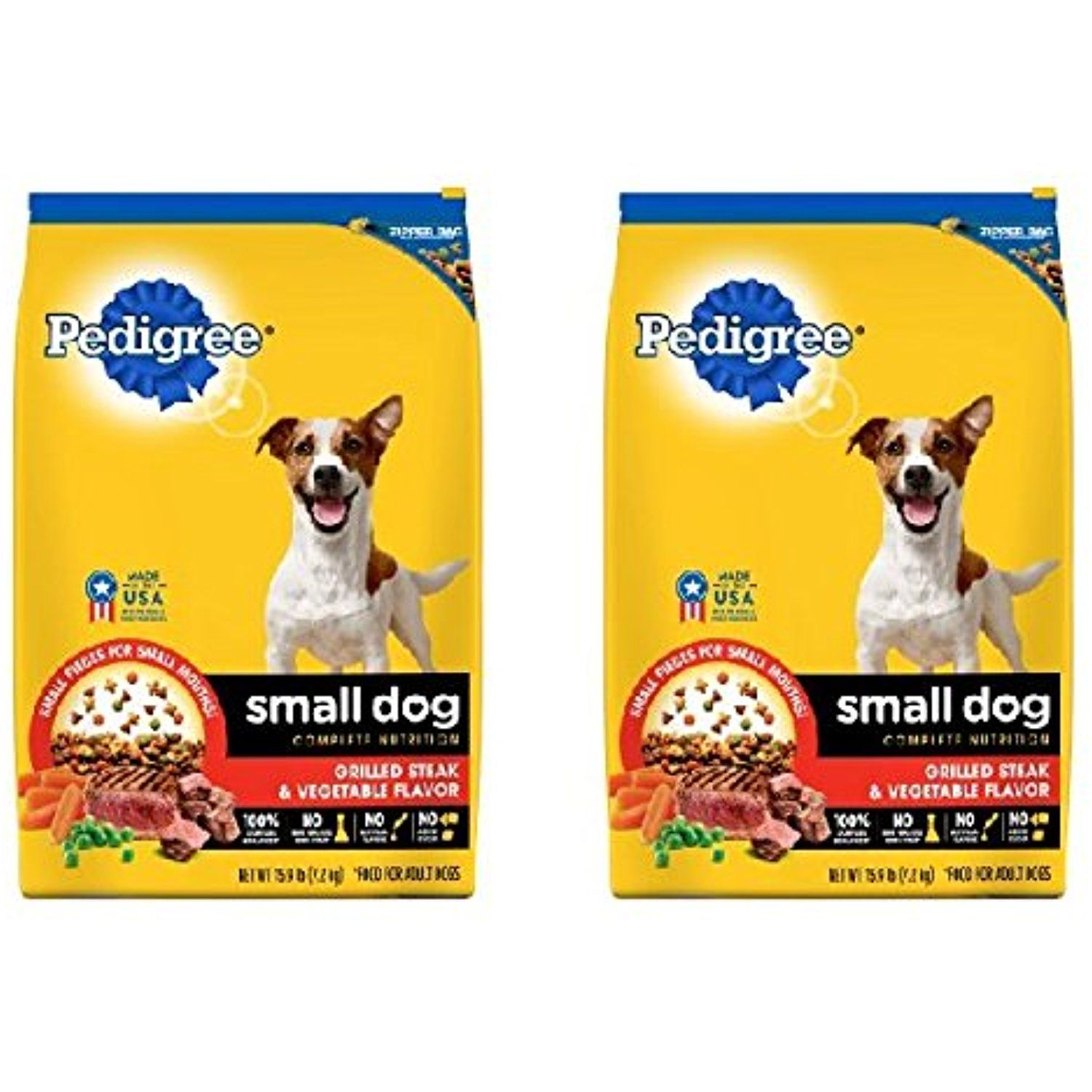 Pedigree Small Breed Adult Dry Dog Food 15 9 Lbs Pack Of 2