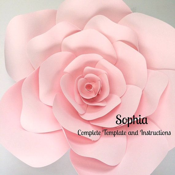 Paper flower template paper flower wall DIY paper by PaperFlora ...