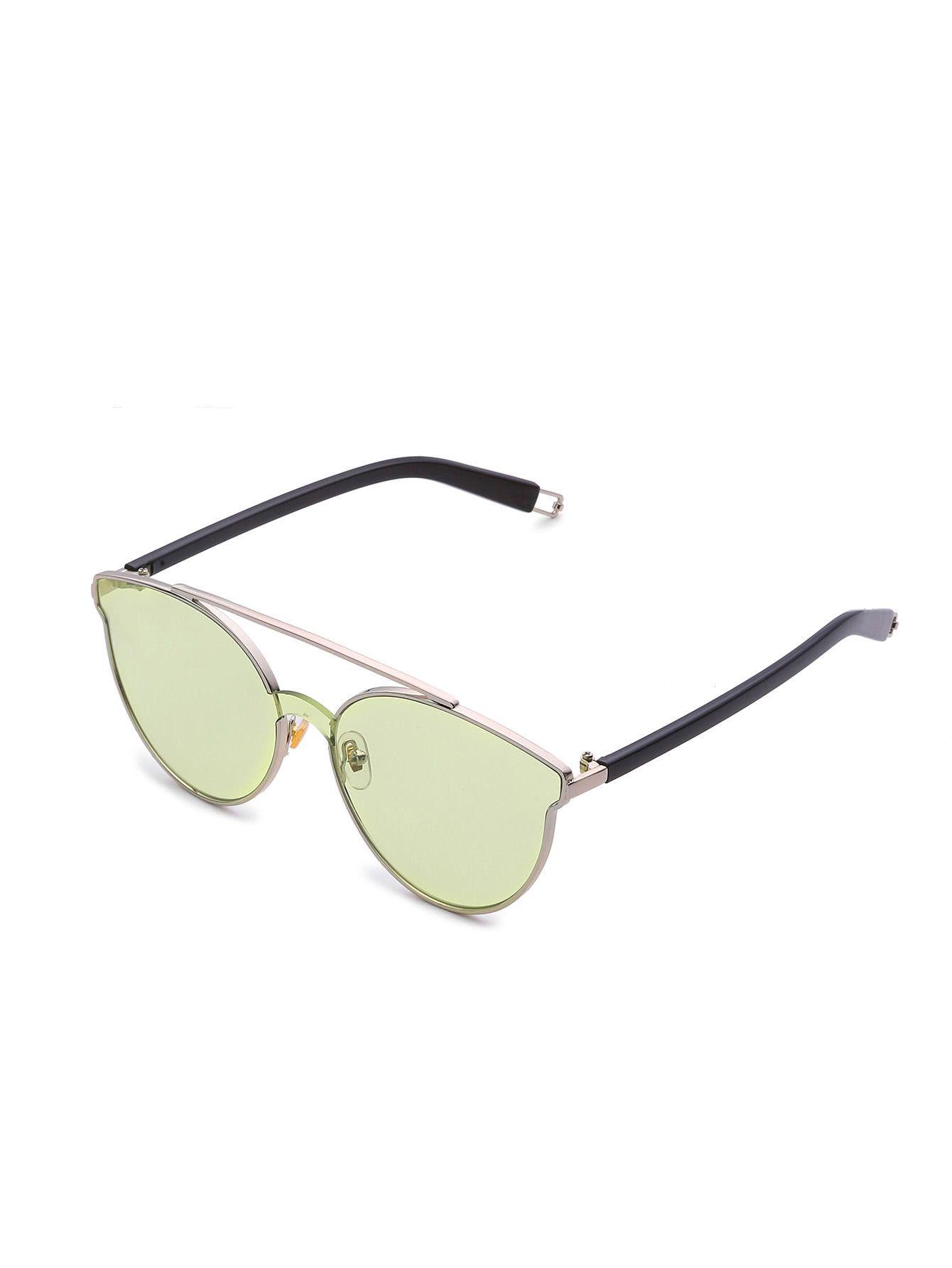57a86ebb50 Flat Lens Top Bar Sunglasses