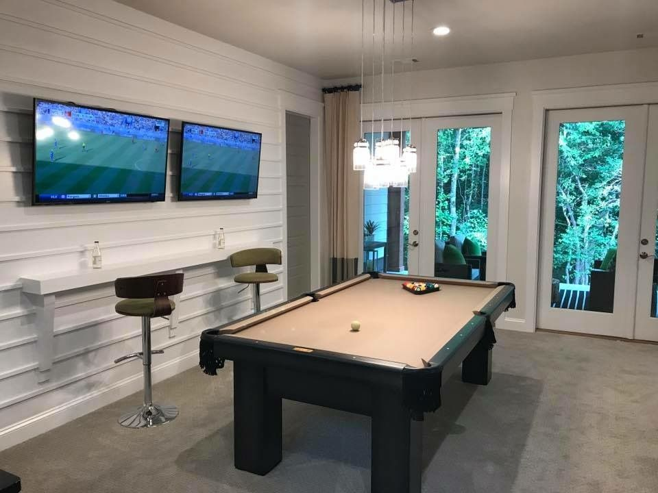 Pin By Amanda Montgomery On Entertainment Room Ideas Entertainment Room Room Game Room