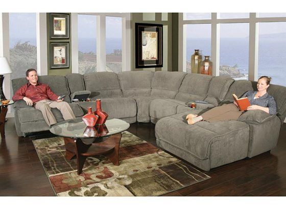 Dimples Steel 7 Piece Power Reclining Sectional. Reclining SectionalComfy  CouchesLiving Room ...