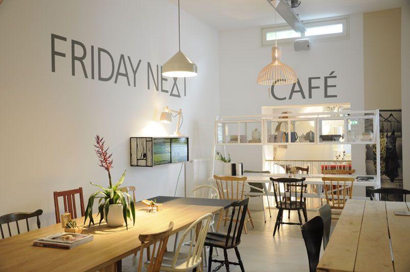 Friday Next Concept Store Amsterdam Cafe Lunchroom Secto Vintage Inspiratie Interieur Cafe Inrichting Fot Cafe Interior Restaurant Interior Cafe Concept